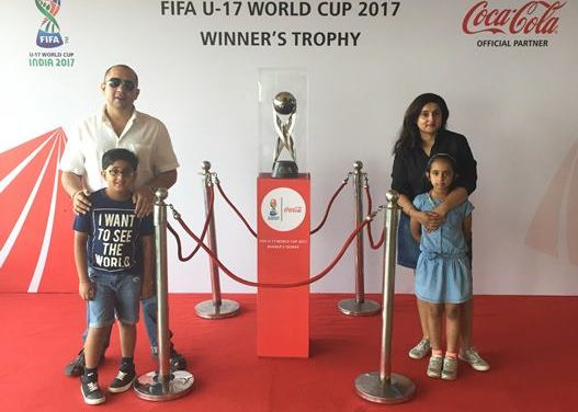 A Soccer Mom Gets Clicked with the U-17 FIFA Cup Trophy
