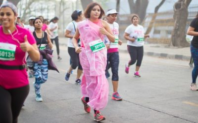 The Pinkathon Saree Runner Shares Her Love for the Graceful Attire
