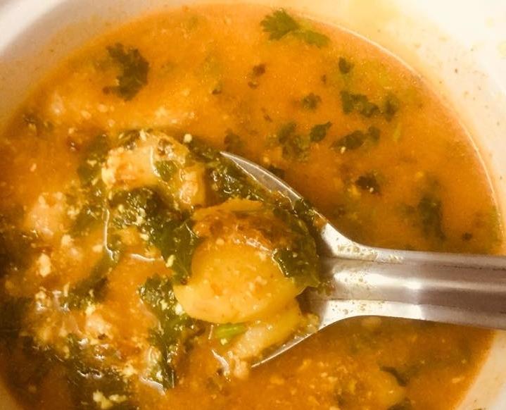 Arbi Ki  Dahi Wali Rasey ki Sabzi (Colocasia Roots Curry in Yogurt )