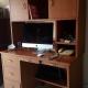 Home workstation with vertical storage