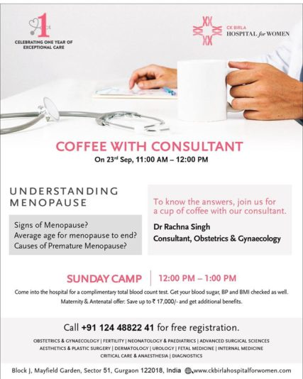 Coffee with Consultant @ CK Birla Hospital for Women
