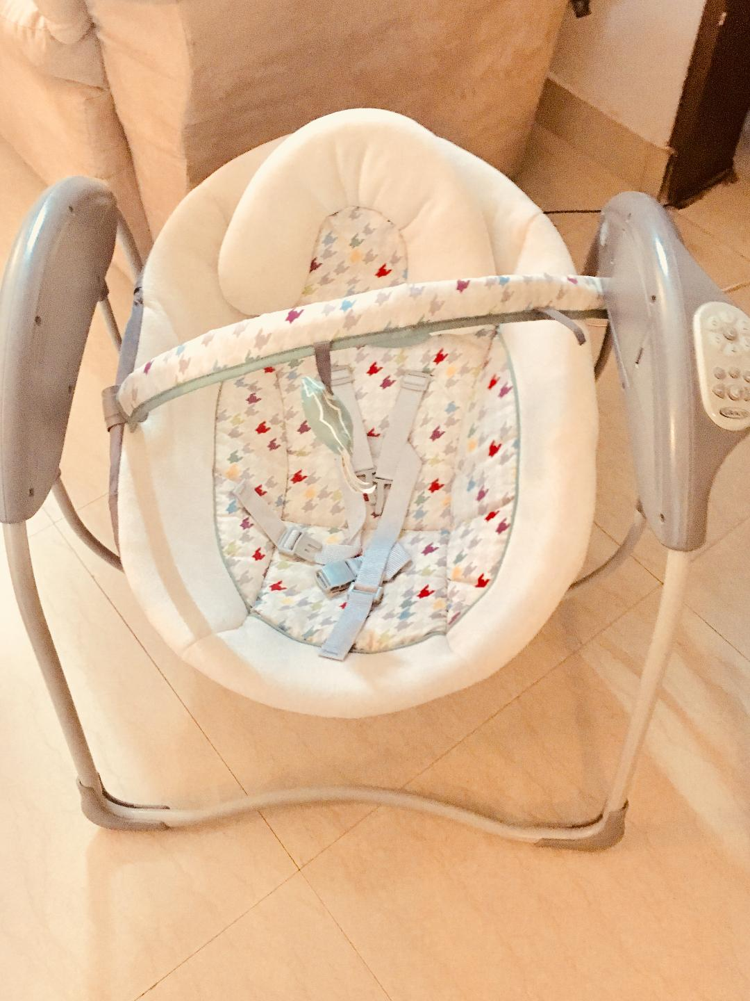 Gracos Glider swing  : apt for infants , very safe and comfortable .