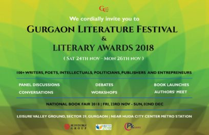 Gurgaon Literature Festival and Literary Awards 2018 @ Leisure Valley Park In Gurgaon