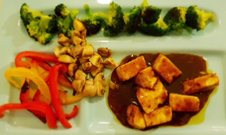Paneer Teriyaki with Sautéed Vegetables