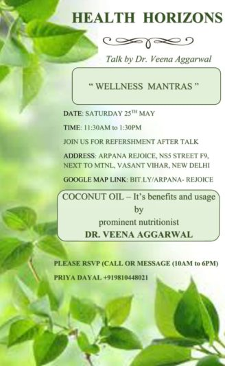 Wellness Mantras - A talk by Dr Veena Aggarwal