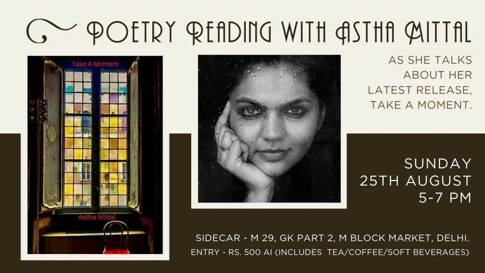 Poetry Reading with Astha Mittal @ Sidecar