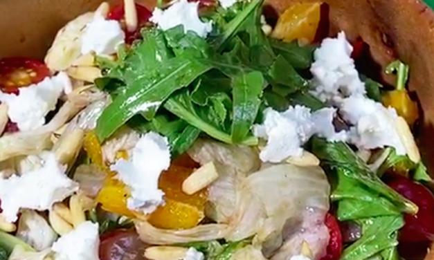 Goat Cheese Orange Salad