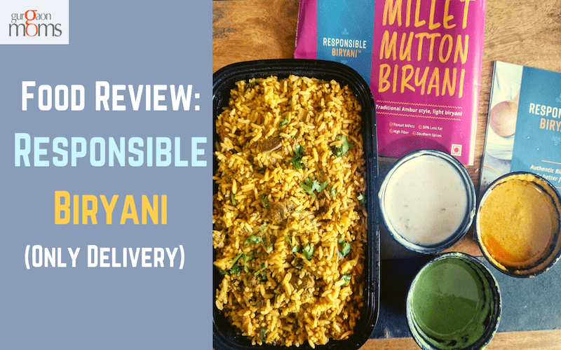 Food Review:Responsible Biryani(Only Delivery)