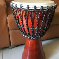 14 inch Mango wood Djembe drum for sale. Is large at 14 inch diameter and 24 inch height.