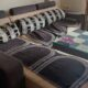L shape 7 seater sofa with center table